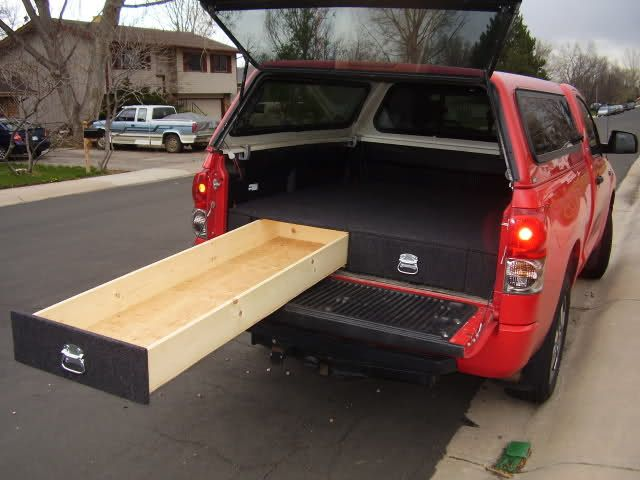 Truck platform bed google search truck camper shell ideas pinterest carpets bed storage - Diy truck bed storage ...