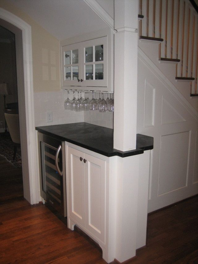 Under stairs dry bar kitchen ideas pinterest mini for Kitchen designs under stairs