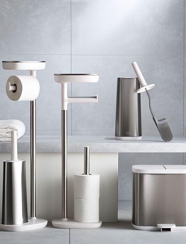 Joseph Joseph Steel Bathroom Collection In 2020 Stainless Steel Bathroom Accessories Bathroom Collections Bathroom Sets