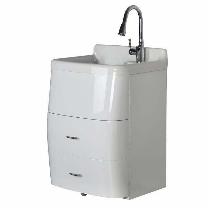 Westinghouse Deluxe Utility Sink And Storage Cabinet