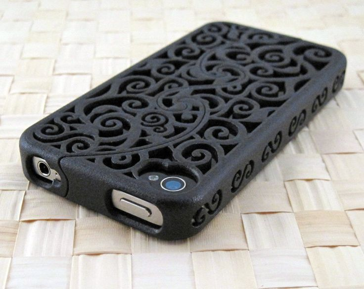 MADE TO ORDER (4-8 weeks) Designer iPhone 4S & 4 Victorian Filigree Swirl Puzzle Case (3D printed Nylon) - 4 color options. $75.00, via Etsy.