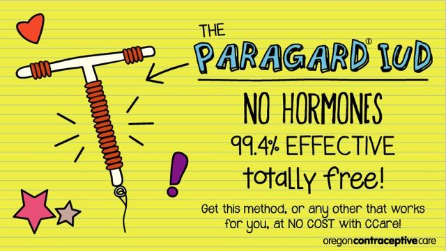 ParaGard IUD Promo Card (Source: Oregon Contraceptive Care)
