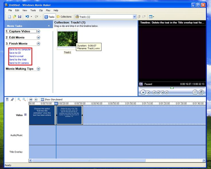 how to add narration to windows movie maker
