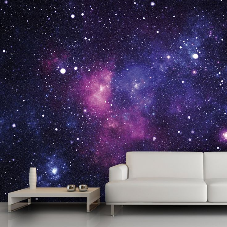 Galaxy wall mural, 13'x9'. $54 trying to think of cool wall decor for practice rooms and/or hang space..(tied in to songs? Ziggy stardusk