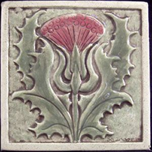 Thistle tile from Earthsong Tiles  found via a Fairytale of Inspiration blogspot