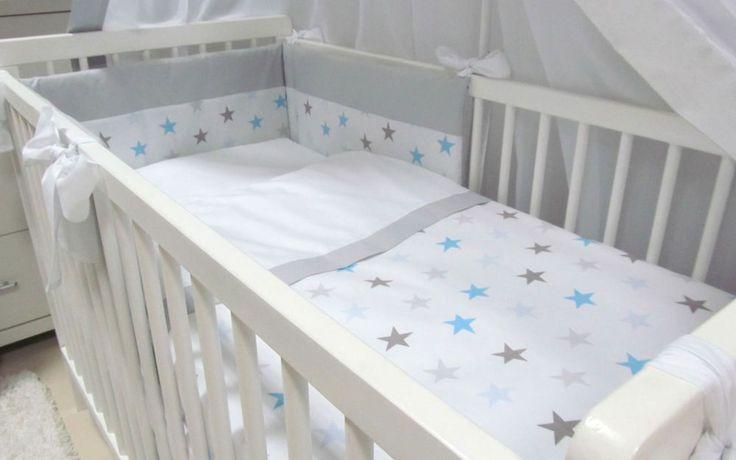 """Babymajawelt® BABY BETT SET """"BIG STARS"""" 5tlg, Bettwäsche Set 135/100 VOILE BABYBETT 140/70. Stars & Sternchen in jeder Form und Farbe bekommst du auf www.babymajawelt.de"""
