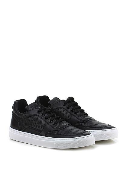 Mariano Di Vaio - Sneakers - Donna - Sneaker in pelle e pelle micro forata con suola in gomma. Tacco 25. - NERO - € 198.00