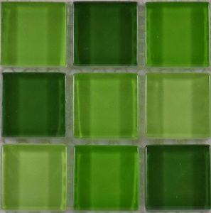 Product ID:OPUS6 Miki 1X1 Glass Blend Spring Splash Mosaic #Profiletile
