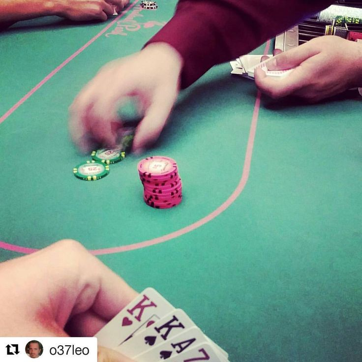 Credit to @o37leo  ・・・ The other night I did alright! This particular hand I tripled-up. 1/2-5 plo straddle was 15. Utg called I potted it to 65 got 2 callers. Flopped a set and potted it all in just under 200 and got 2 callers. Player turned a set of 5's but the board paired up the walking sticks in the river to pushed me the pot w/ my Kings full.  Was so happy to win a decent pot especially being ahead the entire time.  Biggest post I won was more like a fuck-it/fluke. I was down to less…