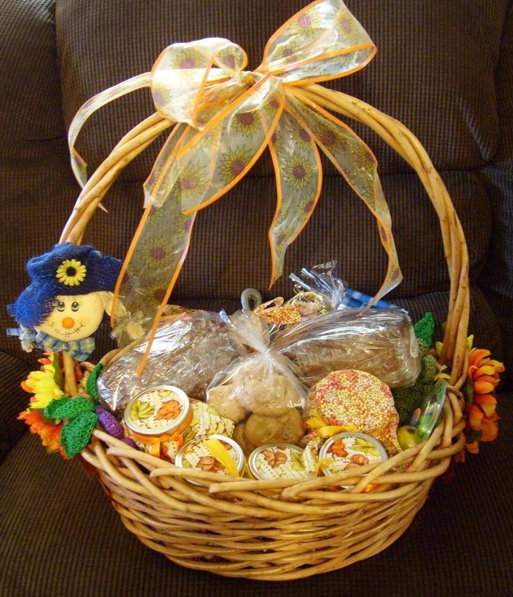 Fall Raffel Basket I Made For Moms 55th Class Reunion