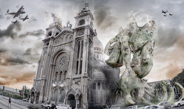 Integración fotográfica y 3D. Iglesia Sacristinos, Santiego, chile,