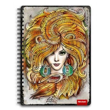 """Блокнот скетчбук для рисования и записей """"Знак Зодиака Лев"""" A5 sketchbook"""