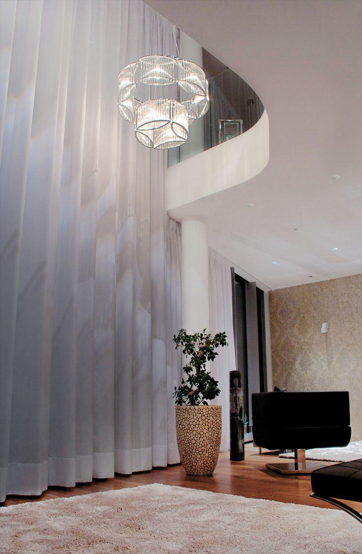 Bedroom curtain track - Electric Curtain Track System In The Marco Polo Tower In Hafencity In Hamburg Germany
