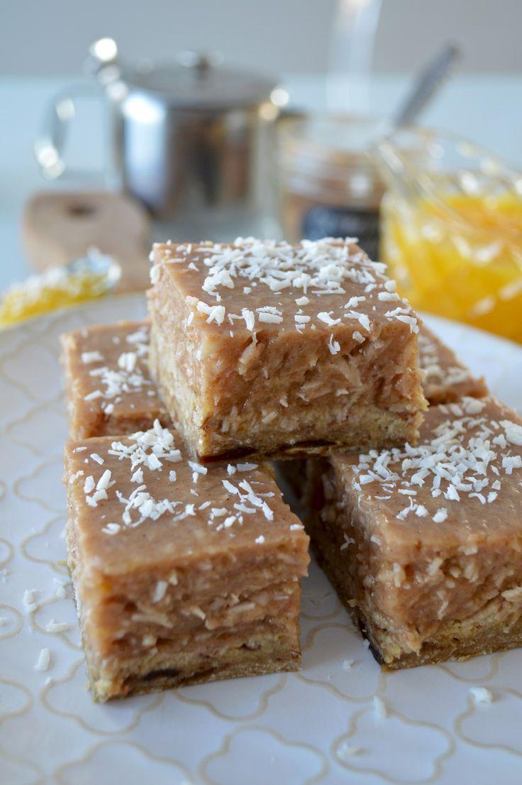 Carrés à la citrouille-coco 4 épices & flocons de sarrasin (vegan & sans gluten) - Le Sarrasin Végétalien