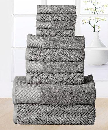 Another great find on #zulily! Platinum Elegance Egyptian Cotton Towel Set #zulilyfinds