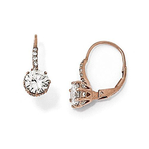 Artic Circle Earrings - 8 Carat gold plated Sterling Silver with Cubic Zirkonia a4P55ws