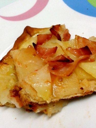 Torta de patata con bacon para #Mycook http://www.mycook.es/receta/torta-de-patata-con-bacon/