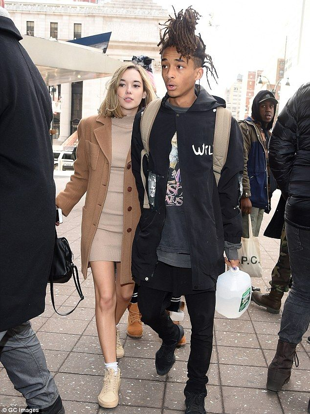 Going strong: Jaden Smith and girlfriend Sarah Snyder attended the Yeezy Season 3 fashion ...