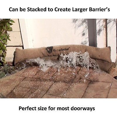 Home Flood Protection 3 Pack Storm Bags Sandless Sandbags Quick Levee Rain Water