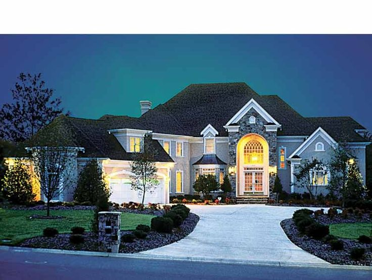 New American House Plan with 4715 Square Feet and 5 Bedrooms from Dream Home Source   House Plan Code DHSW05388