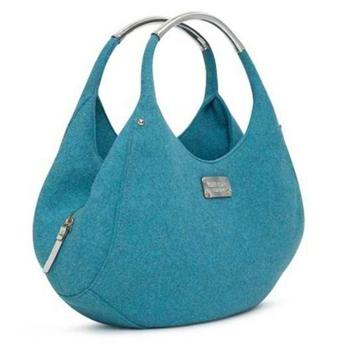 AUTH KATE SPADE Peacock Blue Frosted Felt Shon Bag (a) | Flickr