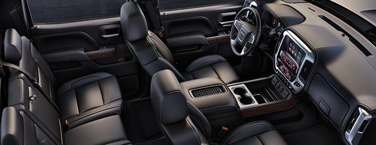 Interior view of the 2016 GMC Sierra 1500 pickup truck.