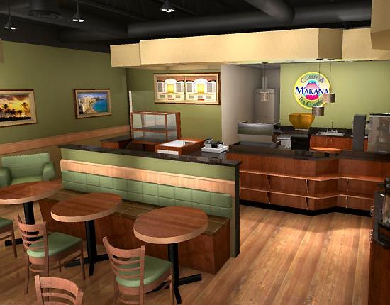 small modern coffee shop interior design plan cafe
