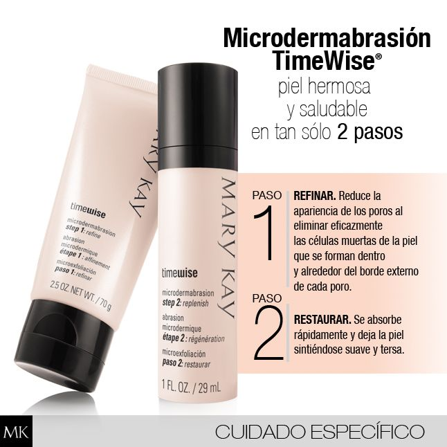 Refina, restaura y suaviza tu piel en 2 simples pasos. Tratamiento profesional que puedes hacerlo en casa. www.marykay.es/lydiarodriguez