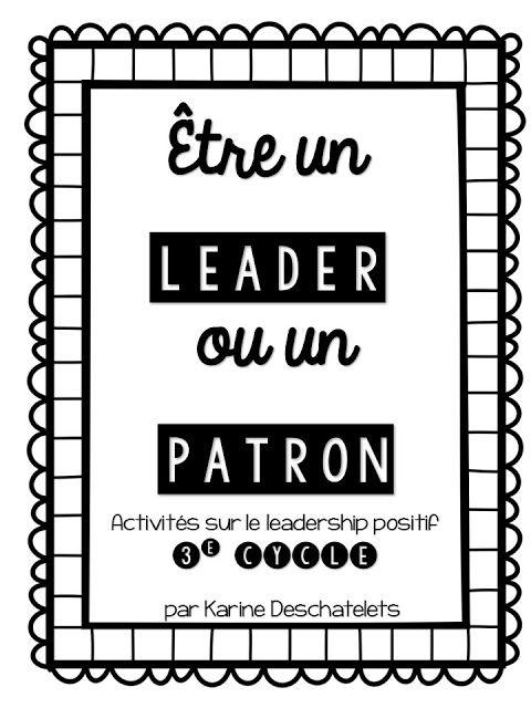 La classe de Karine: Résultats de recherche pour Être un leader ou un patron