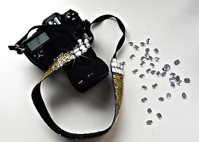 Glitter camera strap. Sweet.