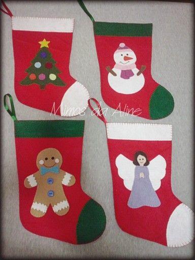 Botas de Natal em feltro