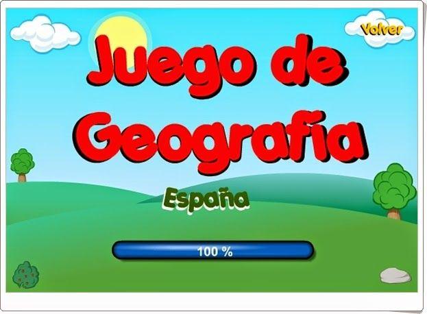 """El pequeño """"Juego de Geografía: España"""" consiste en  identificar en el mapa las Comunidades Autónomas españolas."""