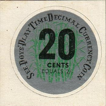 1966 See Poys' Playtime Decimal Currency Coin.