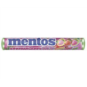 A bulk box of 40 rolls of delicious Mentos Strawberry