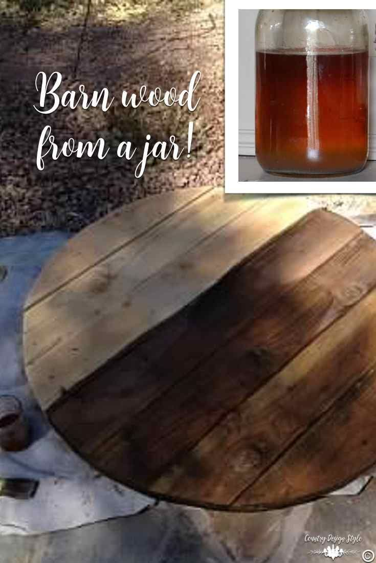 Age new wood to look like barn wood instantly.  Plus the solution costs pennies!  | Country Design Style | countrydesignstyle.com