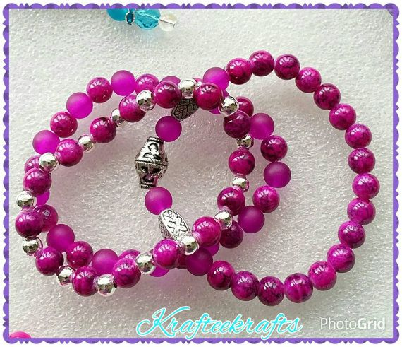 Stretchy beaded bracelets, set of three bracelets, gifts for her, gifts for daughters, sisters, mothers day gifts, valentines day gifts