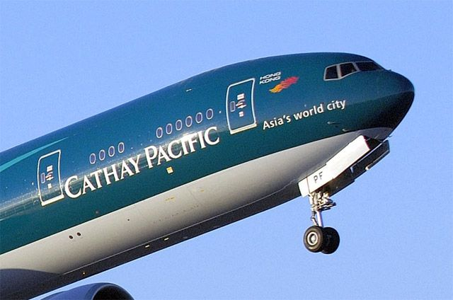 Cathay Pacific airways, grabbed the 4th position in the year 2012, stands great with its royal blue-green color.