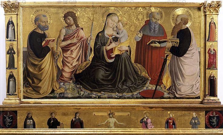 Беноццо Гоццоли. Мадонна с младенцем и святыми.
