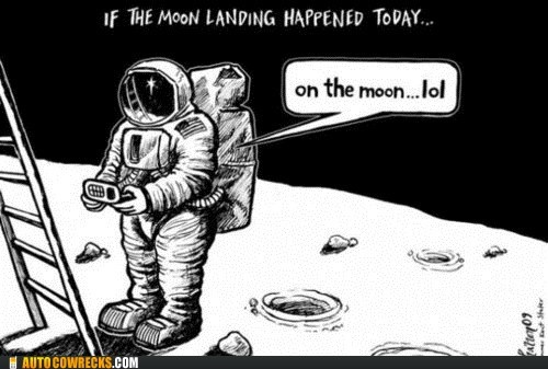 Haha.: Moon Today, Funny Pics, Modern Moon, Land Happen, So True, Funny Stuff, Happen Today, Moon Land, The Moon