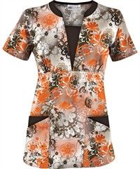 Perfect for halloween if you just want to play with the colors, or if you like orange. UA Mystical Garden Amber Print Scrub Top