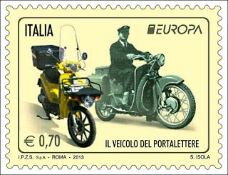 "europa stamps: Italy 2013 - Europa 2013 ""The postman van""  celebrating PostEuropa's 20th anniversary - 1993-2013"