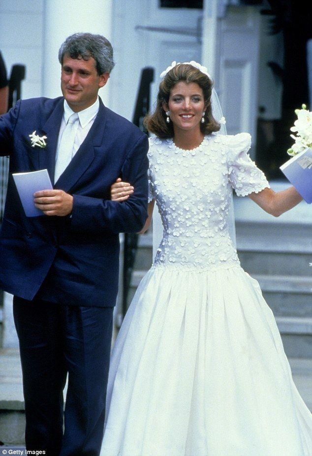 American Royalty:Caroline Kennedy donned a silk organza ballgown designed by Carolina Her...