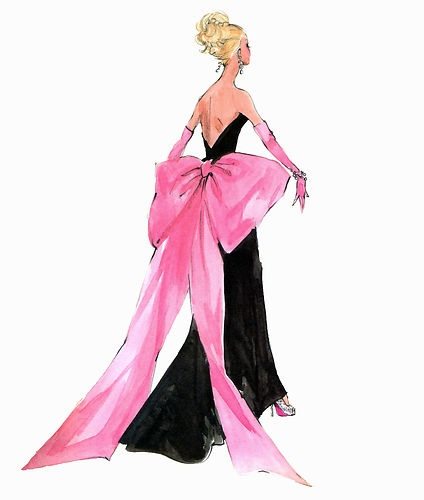 "Robert Best print Barbie ""Big Pink Bow"" (Dior fashion)"