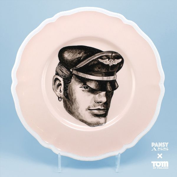 Tom of Finland Plate by Pansy Ass Ceramics