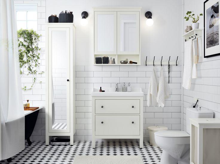 HEMNES kast | #IKEA #IKEAnl #wit #landelijk #badkamer #inspiratie #ruimte #opbergen