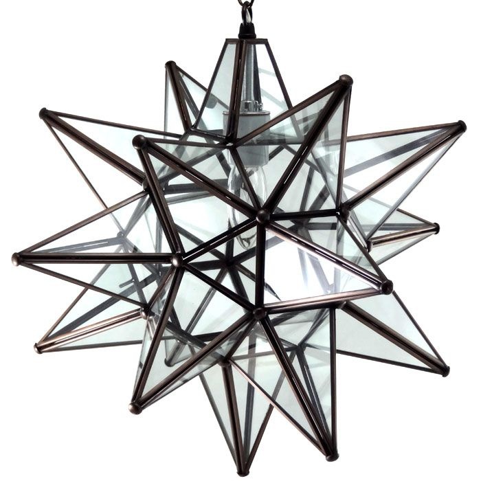 clear glass star light fixture 18 basement pinterest. Black Bedroom Furniture Sets. Home Design Ideas