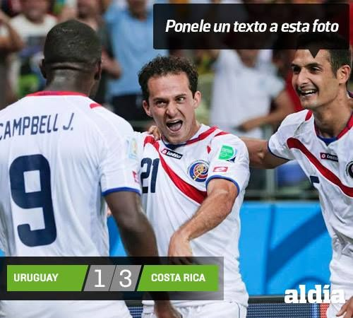 #CostaRica vs #Uruguay #FifaWorldcup2014 In the death group with #italy and #England, #CostaRica shocks the world.