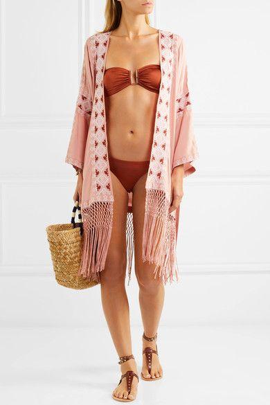 Melissa Odabash - Barcelona Bandeau Bikini Top - Orange