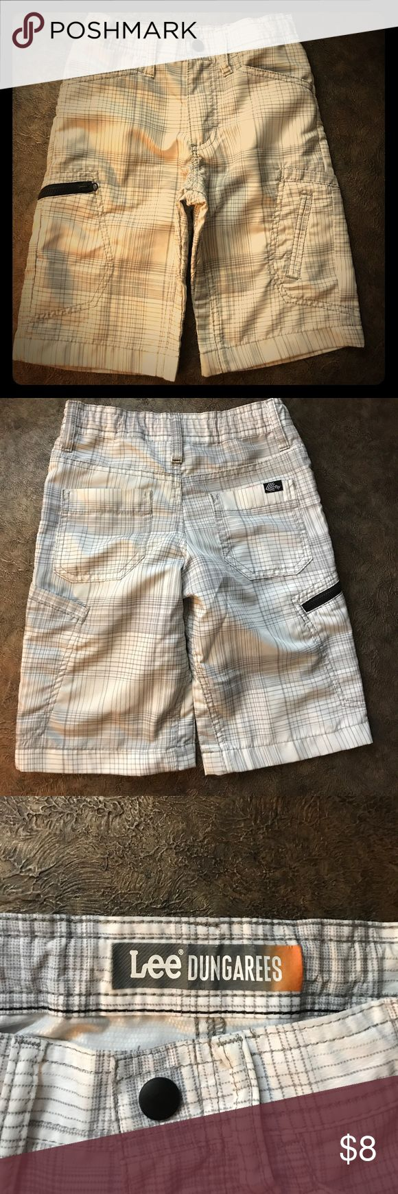 Boy's Gray and White Lee Shorts Size 6 Excellent condition, worn only once! Lee Dungarees with pockets and adjustable waist. Size 6. Bundle and Save! Lee Bottoms Shorts