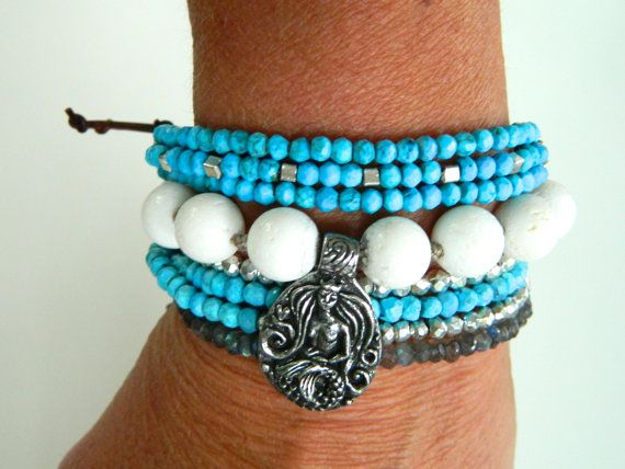 Hey, I found this really awesome Etsy listing at https://www.etsy.com/listing/156760705/boho-turquoise-silver-and-leather